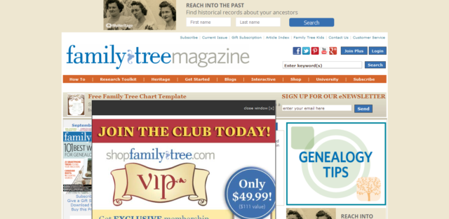 genealogy websites price free